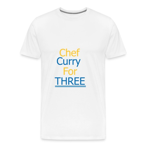 Chef Curry for THREE - Männer Premium T-Shirt