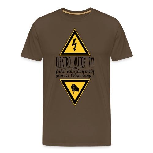 Elektroautos schwarz - Männer Premium T-Shirt