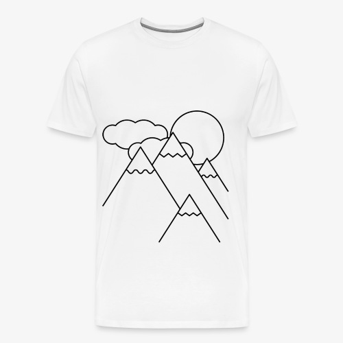 Bergen bij Dag - Mannen Premium T-shirt