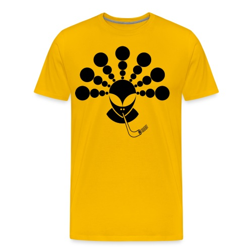 The Smoking Alien Black - Men's Premium T-Shirt
