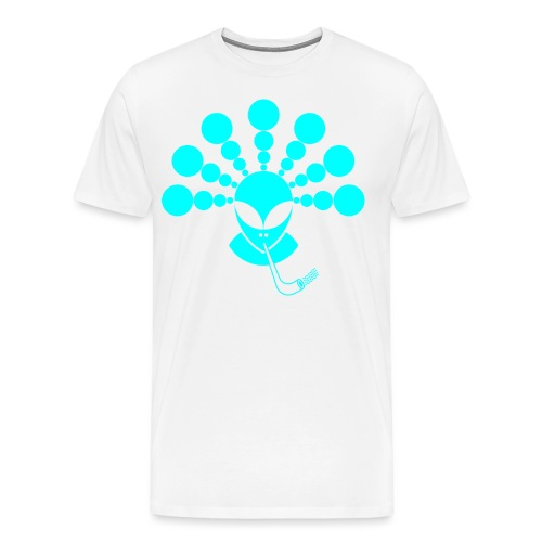 The Smoking Alien Light Blue - Men's Premium T-Shirt