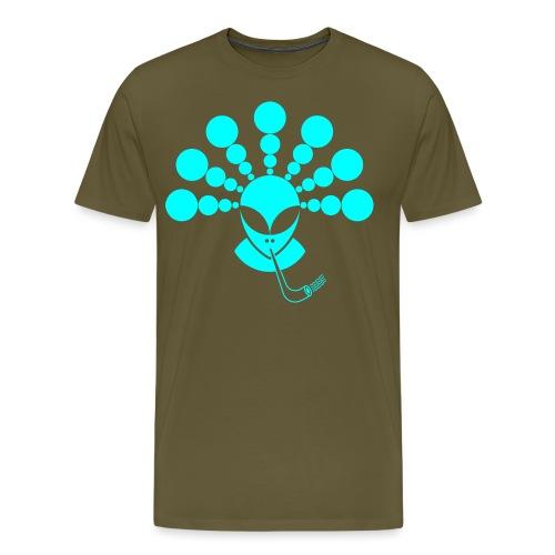 The Smoking Alien Light Blue - Men's Premium T-Shirt