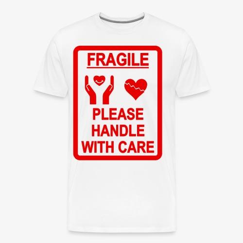 corazón frágil - Camiseta premium hombre