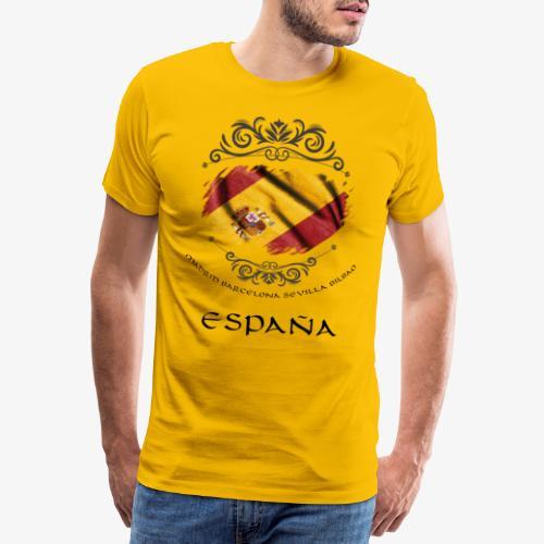 Spain Vintage Flag - Männer Premium T-Shirt