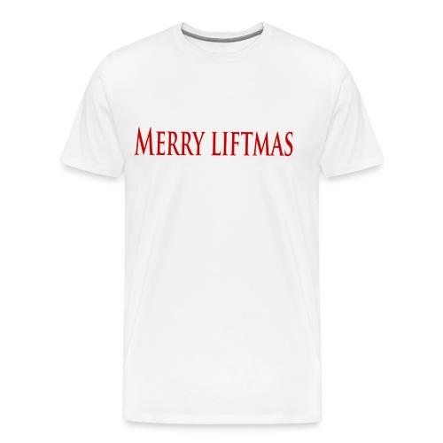 Merry liftmas - Premium-T-shirt herr