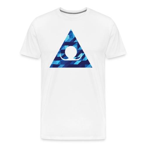 We triangle shape (Blue) - Maglietta Premium da uomo