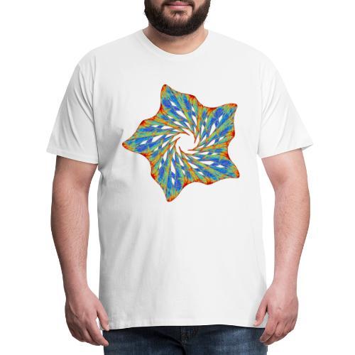 Bunter Seestern mit Dornen 9816j - Männer Premium T-Shirt