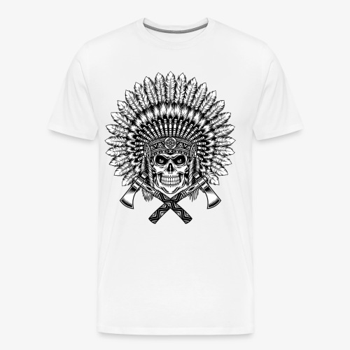 Indian skull - Mannen Premium T-shirt