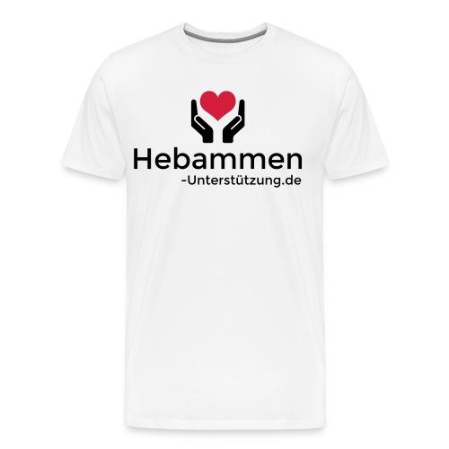 Logo Hebammen Unterstützung de schwarz klein - Männer Premium T-Shirt