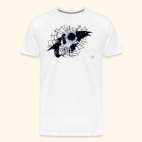 Pääkallo ja korppi - Miesten premium t-paita