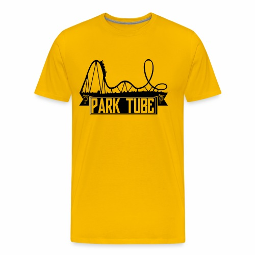 ParkTube Banner mit Achterbahn schwarz - Männer Premium T-Shirt