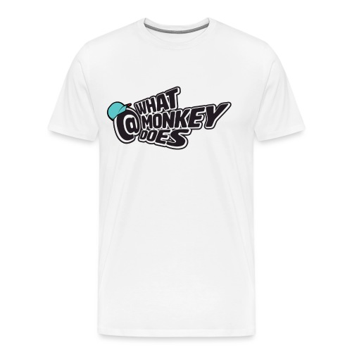 What Monkey Does Instagram Logo - Men's Premium T-Shirt