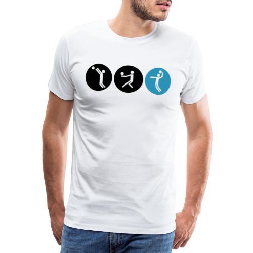 Volleyball symbole bicolor - Männer Premium T-Shirt