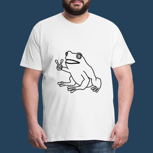 Frog Peace! by Cuerno - Männer Premium T-Shirt