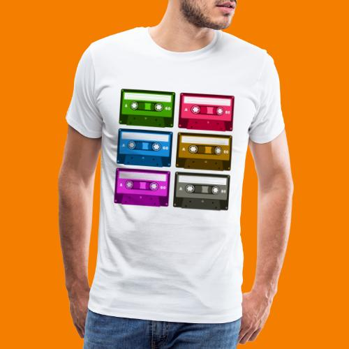 Kassetter - Premium-T-shirt herr