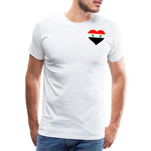 Syria Herz auf der Brust Syrien Flagge Syria - Männer Premium T-Shirt