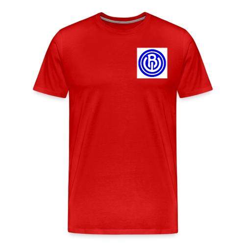 logo blauw wit - Mannen Premium T-shirt