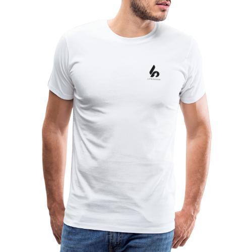 Lifepusher Logo Schwarz mit Text - Männer Premium T-Shirt