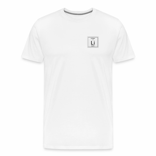 Lithium Periodic Table Image - Männer Premium T-Shirt