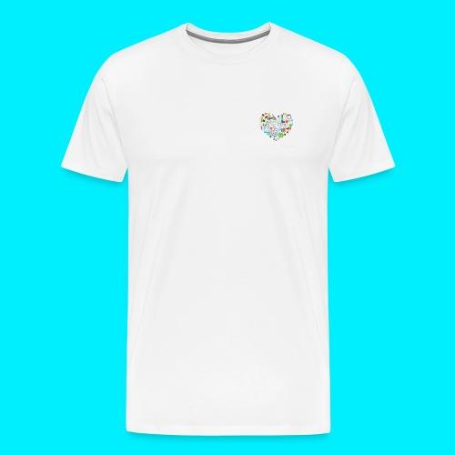 Heart image - Men's Premium T-Shirt