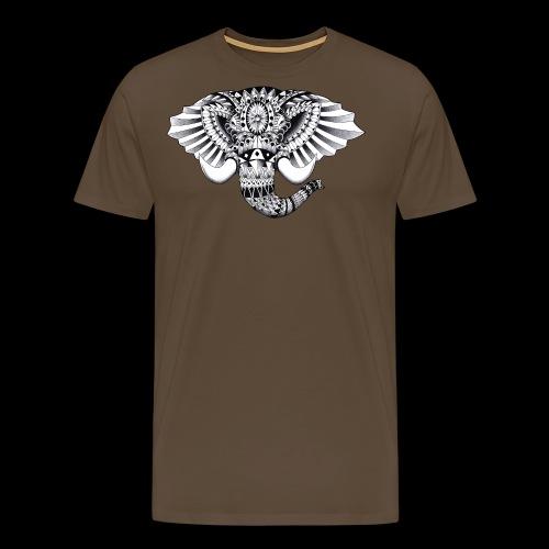 Elephant Ornate Drawing - Maglietta Premium da uomo