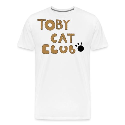 Toby Cat Club Rough Sketch - Men's Premium T-Shirt