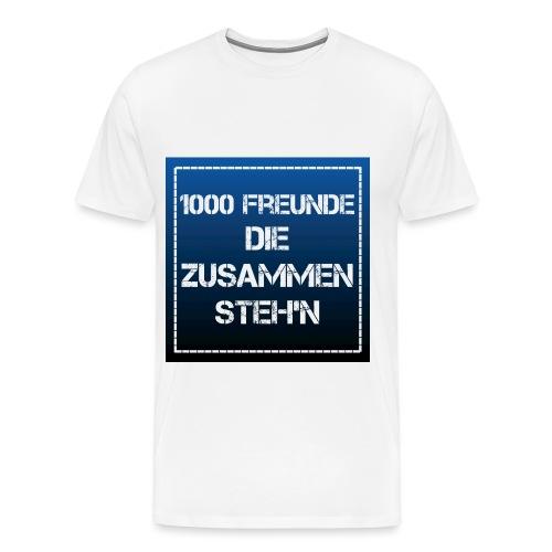 1000 FREUNDE - Männer Premium T-Shirt