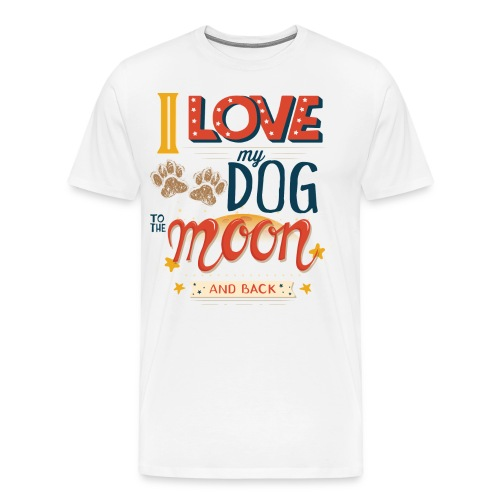 Moon Dog Light - Premium-T-shirt herr