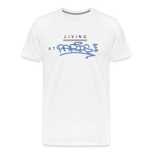 Living @ Paris street letters - T-shirt Premium Homme