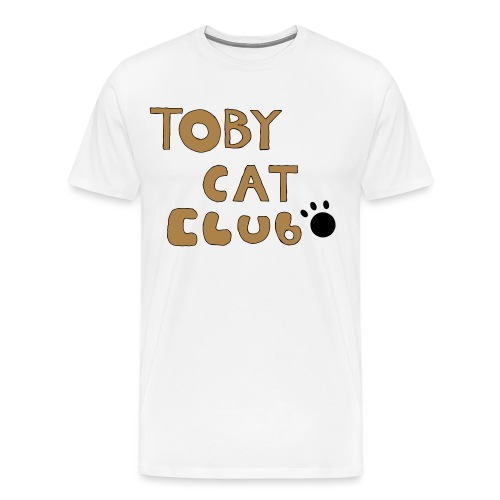 Toby Cat Club Rough Sketch - Men's Premium T-Shirt
