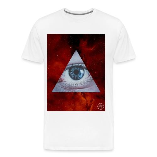 Blue Eyes Red Nebula - Men's Premium T-Shirt