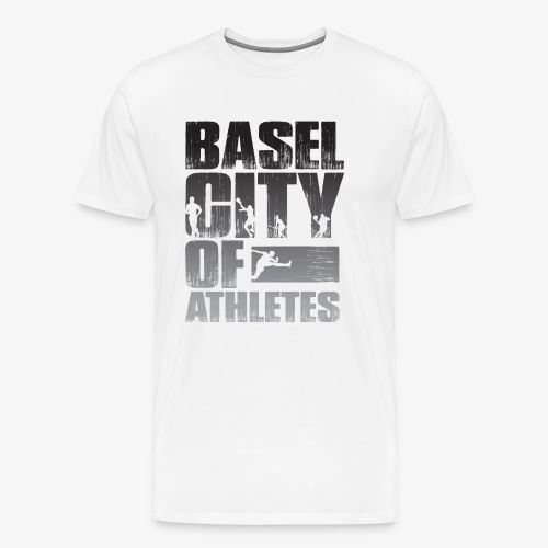 Basel City of Athletes B/W - Männer Premium T-Shirt
