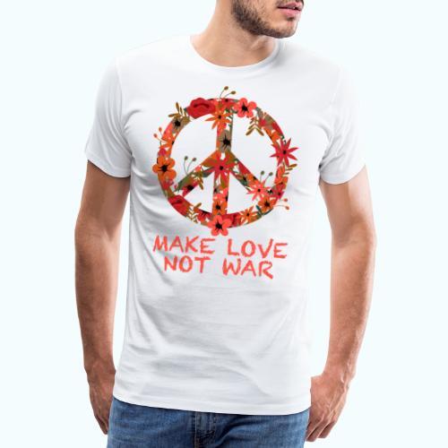 Hippie flowers peace - Men's Premium T-Shirt