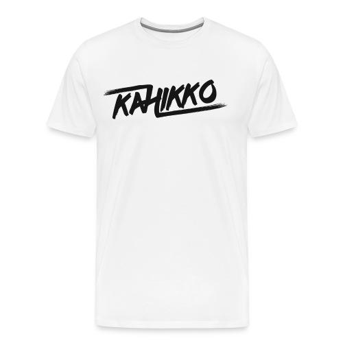 Kahikko Classic Logo Black - Miesten premium t-paita