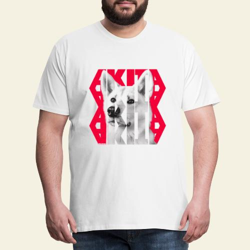 Akita NASSU IV - Miesten premium t-paita