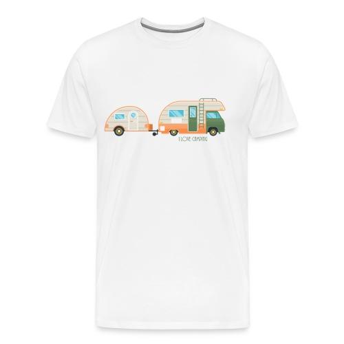 I love camping - Männer Premium T-Shirt