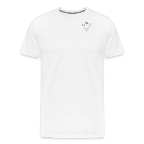 gem black logo png - Premium-T-shirt herr