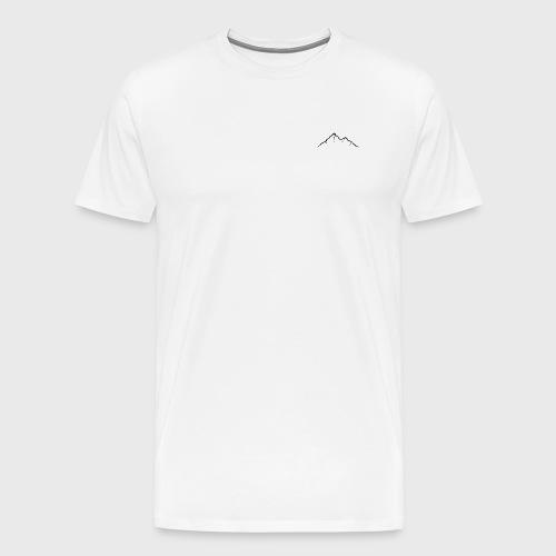 MountainlineSchwarz-02 - Männer Premium T-Shirt