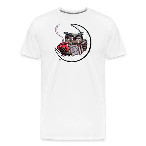 Owl With Coffee - Men's Premium T-Shirt
