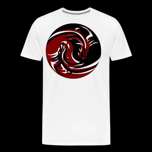 Dragon Yin Yang - Männer Premium T-Shirt