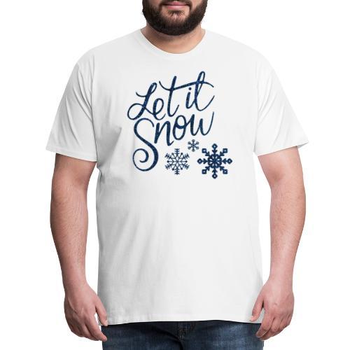 Let il snow Noël New shape fane design vintage - T-shirt Premium Homme
