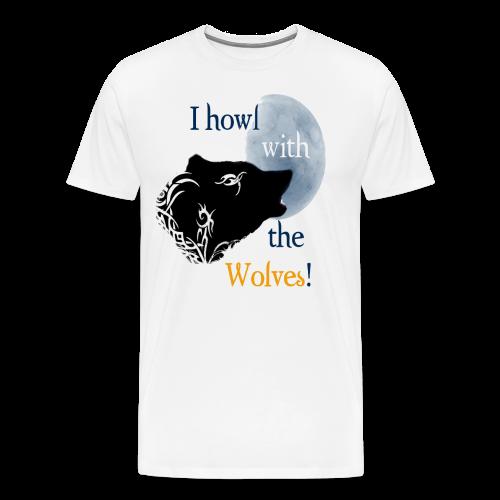 Wolf howl - Männer Premium T-Shirt