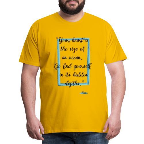 Frase motivazionale, citazione Rumi - Maglietta Premium da uomo