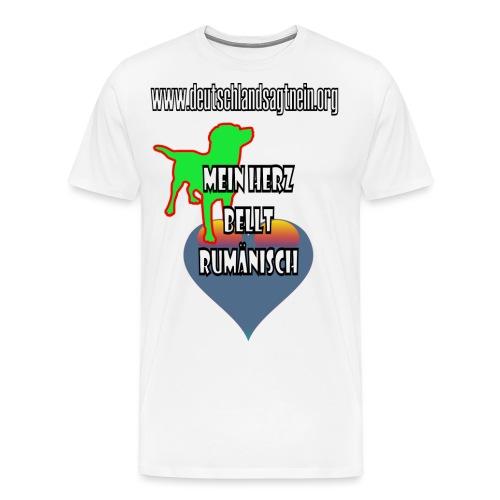 Herz bellt rumänisch - Männer Premium T-Shirt