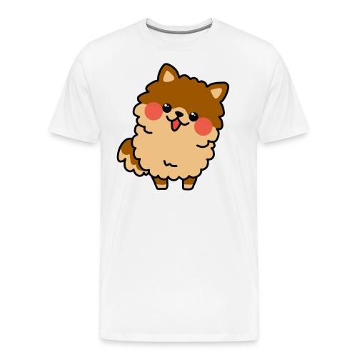 Perrito Pomerania Chibi - Camiseta premium hombre