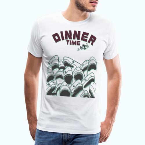 Dinner Time Funny Retro 90s Shark Shirt - Men's Premium T-Shirt