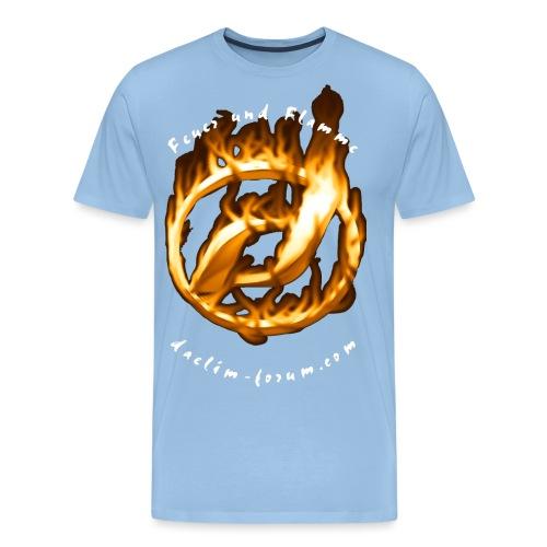 Heißes Daelim Logo (mit Spruch) - Männer Premium T-Shirt