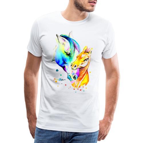 Jument et son poulain - T-shirt Premium Homme