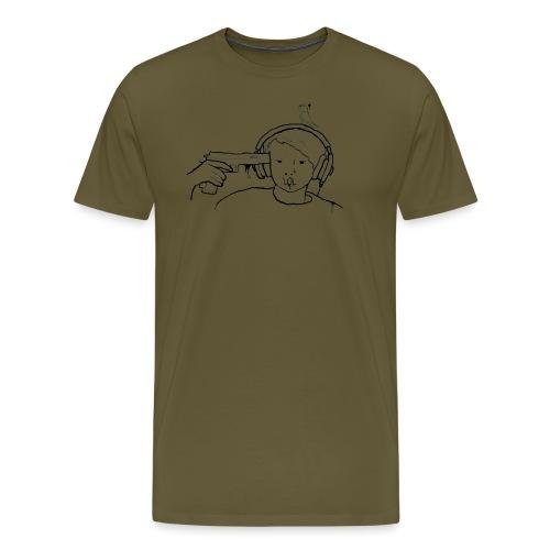 kys valkoinen - Miesten premium t-paita