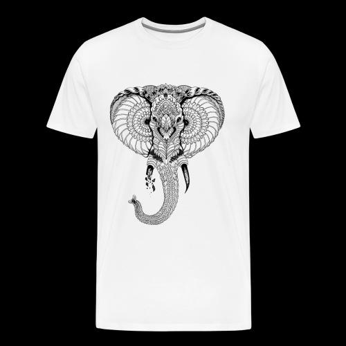 Elephant stylisé - T-shirt Premium Homme